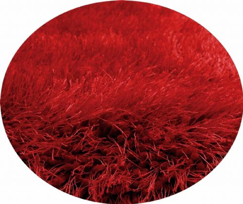 Red Colour Thick Super Soft Fluffy Deep Pile Luxury Plain Stylish Modern Shaggy Rugs